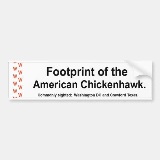 American Chickenhawk Bumper Sticker