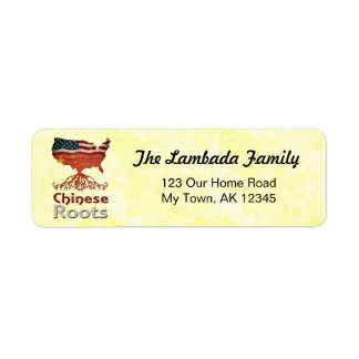 American Chinese Roots Address Labels