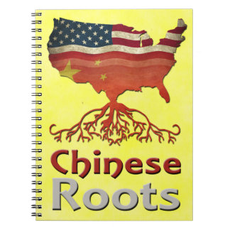 American Chinese Roots Notepad Notebook