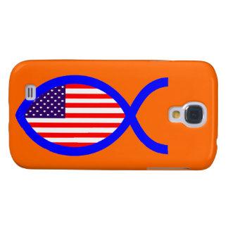American Christian Fish Symbol Flag HTC Vivid Covers