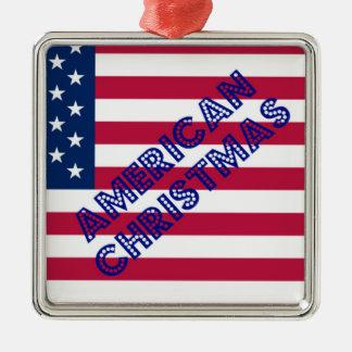 American Christmas Flag Christmas Ornament