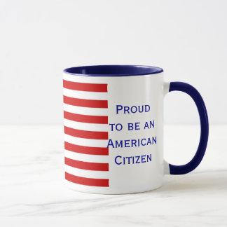 American Citizen Flag Ringer Coffee Mug by Janz
