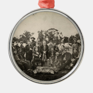 American Civil War Battalion Washington Artillery Silver-Colored Round Decoration