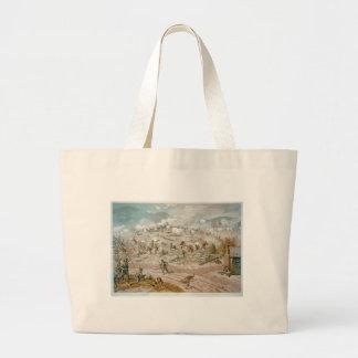 American Civil War Battle of Allatoona Pass Large Tote Bag