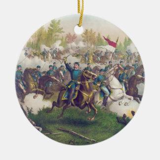 American Civil War Battle of Cedar Creek 1864 Double-Sided Ceramic Round Christmas Ornament