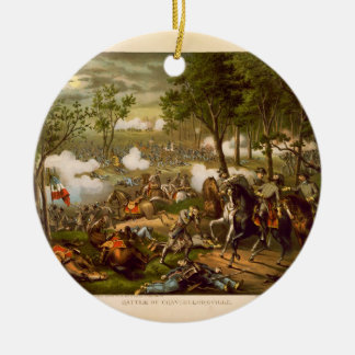 American Civil War Battle of Chancellorsville Double-Sided Ceramic Round Christmas Ornament