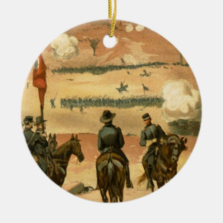 American Civil War Battle of Chattanooga 1863 Round Ceramic Decoration