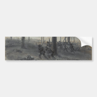 American Civil War Battle of Chickamauga by Waud Bumper Sticker