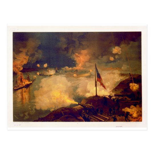 American Civil War Battle of Port Hudson Postcard