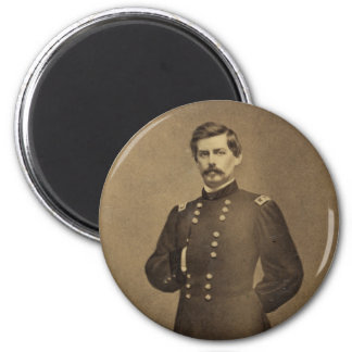 American Civil War General George B McClellan 6 Cm Round Magnet