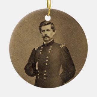 American Civil War General George B McClellan Double-Sided Ceramic Round Christmas Ornament