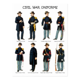 American Civil War Uniforms Postcard