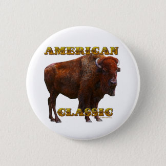American Classic Buffalo by Fractal Tees(TM) 6 Cm Round Badge
