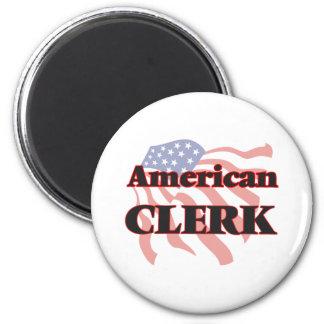 American Clerk 6 Cm Round Magnet