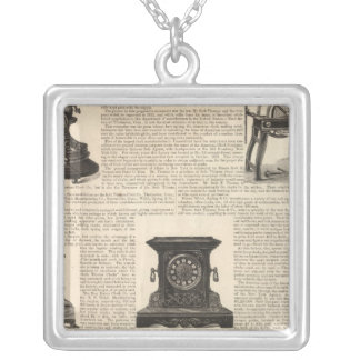 American Clock Company Silver Plated Necklace