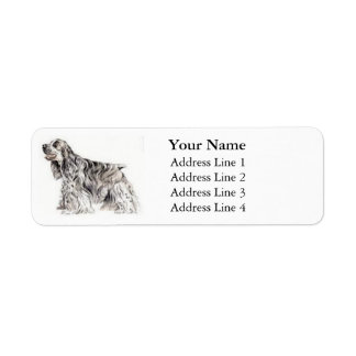 American Cocker Spaniel Address Labels