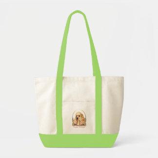 American Cocker Spaniel ASCOB Happy Holidays Impulse Tote Bag
