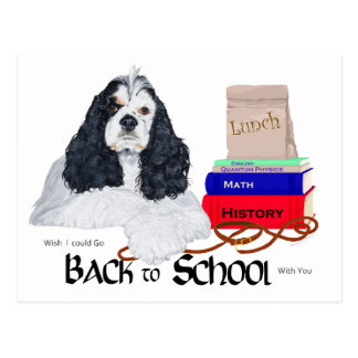 American Cocker Spaniel Back to School Postcard