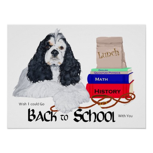 American Cocker Spaniel Back to School Print