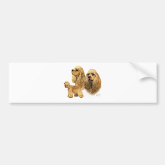 American Cocker Spaniel Bumper Sticker