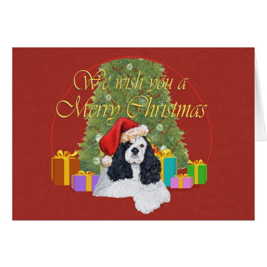American Cocker Spaniel Christmas Card