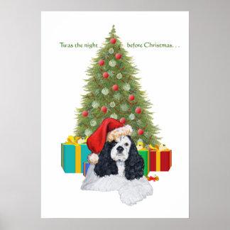 American Cocker Spaniel Christmas Posters
