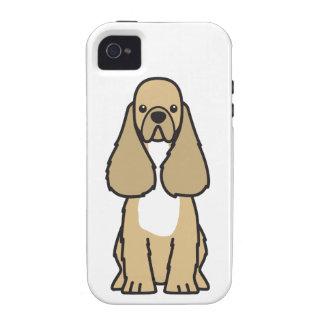 American Cocker Spaniel Dog Cartoon Vibe iPhone 4 Case