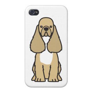 American Cocker Spaniel Dog Cartoon iPhone 4 Cover