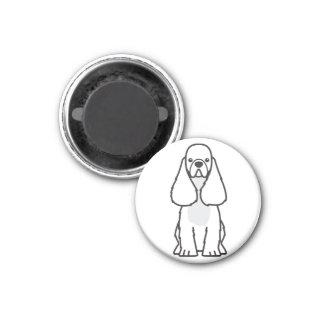American Cocker Spaniel Dog Cartoon Magnet