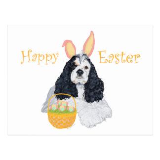 American Cocker Spaniel Easter Postcard
