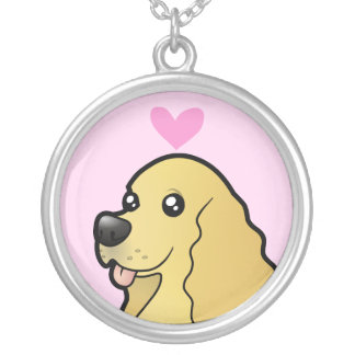American Cocker Spaniel Love Silver Plated Necklace