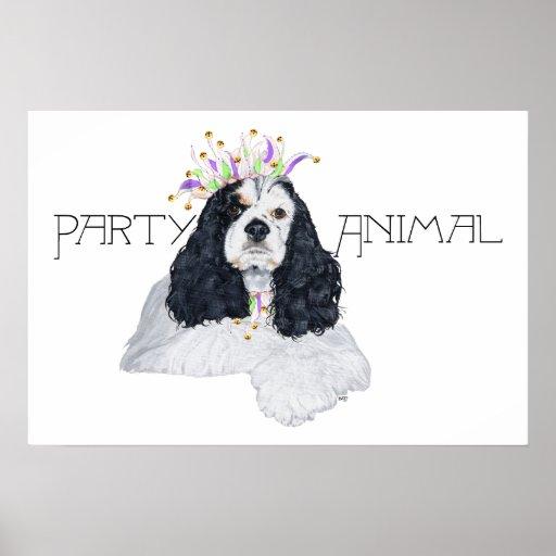 American Cocker Spaniel Party Animal Poster