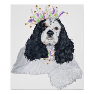 American Cocker Spaniel Party Animal Poster