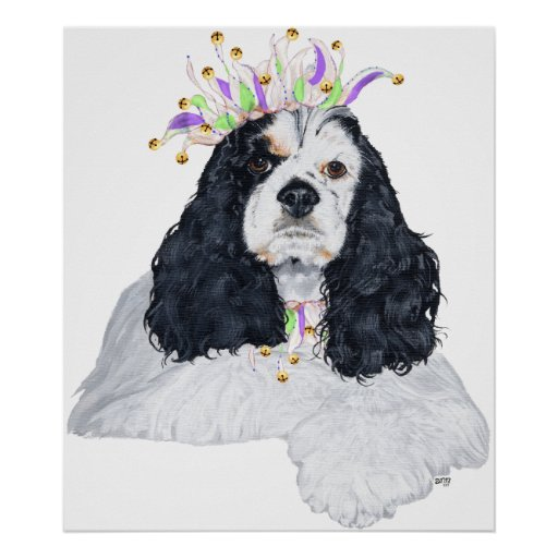 American Cocker Spaniel Party Animal Posters