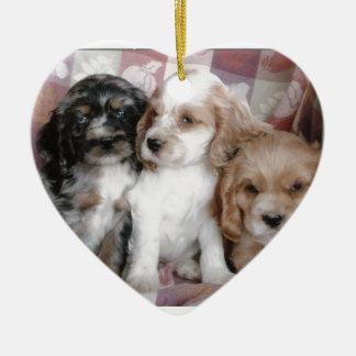 American Cocker Spaniel Puppies Christmas Ornament