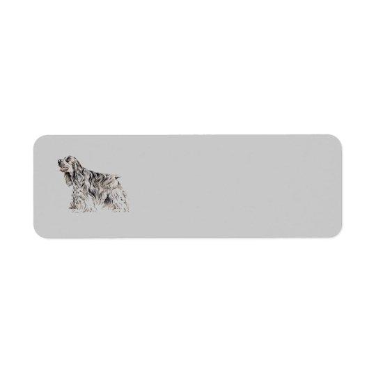 American Cocker Spaniel Return Address Avery Label