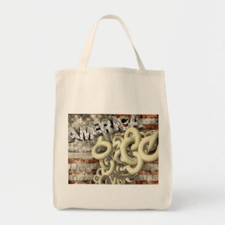 American Collage Canvas Bags