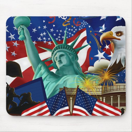 AMERICAN COLLAGE MOUSEPAD