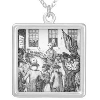 American Colonists Declared Themselves Silver Plated Necklace