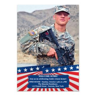 American Colors Photo Patriotic Invitation