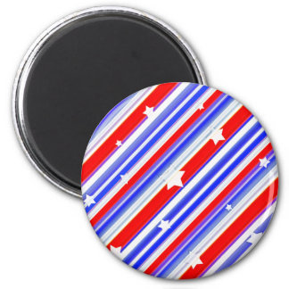 American Colors Stars Background 6 Cm Round Magnet