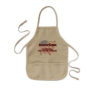 American Commercial Art Gallery Manager Kids Apron