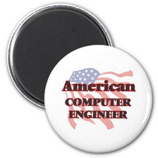 American Computer Engineer 6 Cm Round Magnet