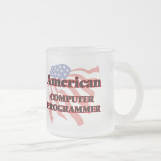 American Computer Programmer Frosted Glass Mug