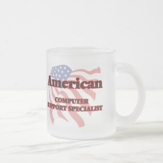 American Computer Support Specialist Frosted Glass Mug