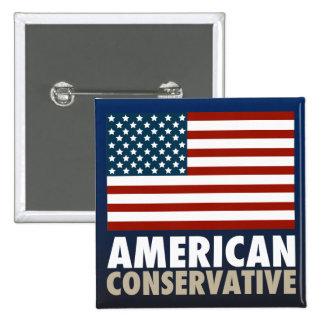 American Conservative 15 Cm Square Badge