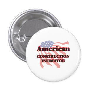 American Construction Estimator 3 Cm Round Badge