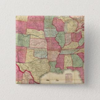 American Continent United States 15 Cm Square Badge