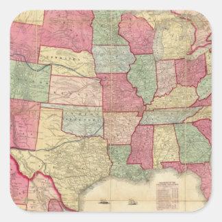 American Continent United States Square Sticker