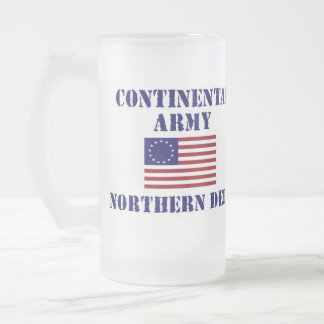 American Continental Army Frosted Drinking Glass Frosted Glass Mug